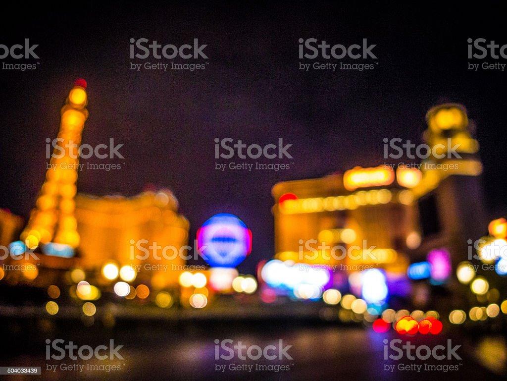 Defocused Las Vegas stock photo