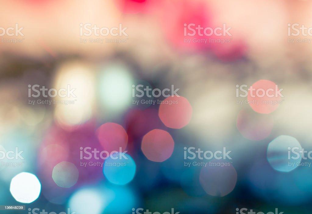 Defocused light efect stock photo