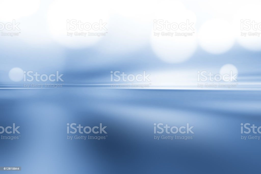Defocused Lights Abstract Background Blue stock photo