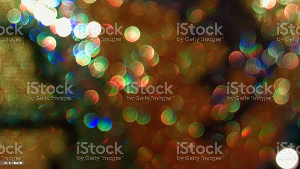 Defocused lights abstract background stock photo