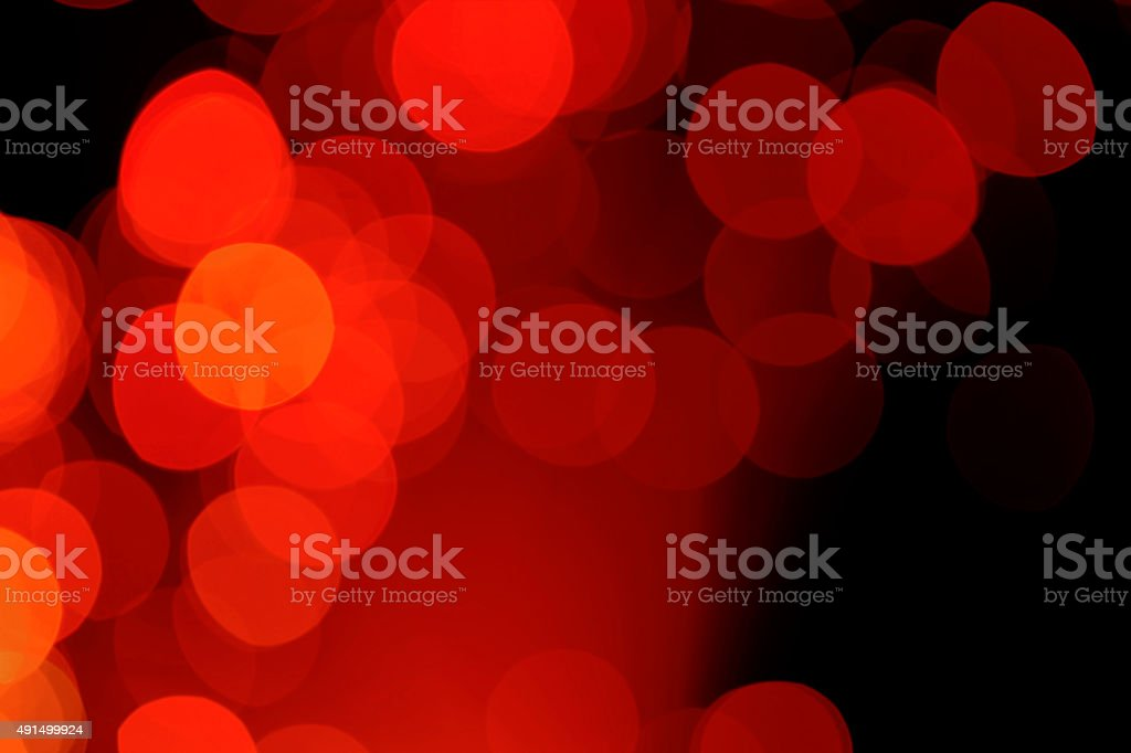 Defocused lights background (red) stock photo