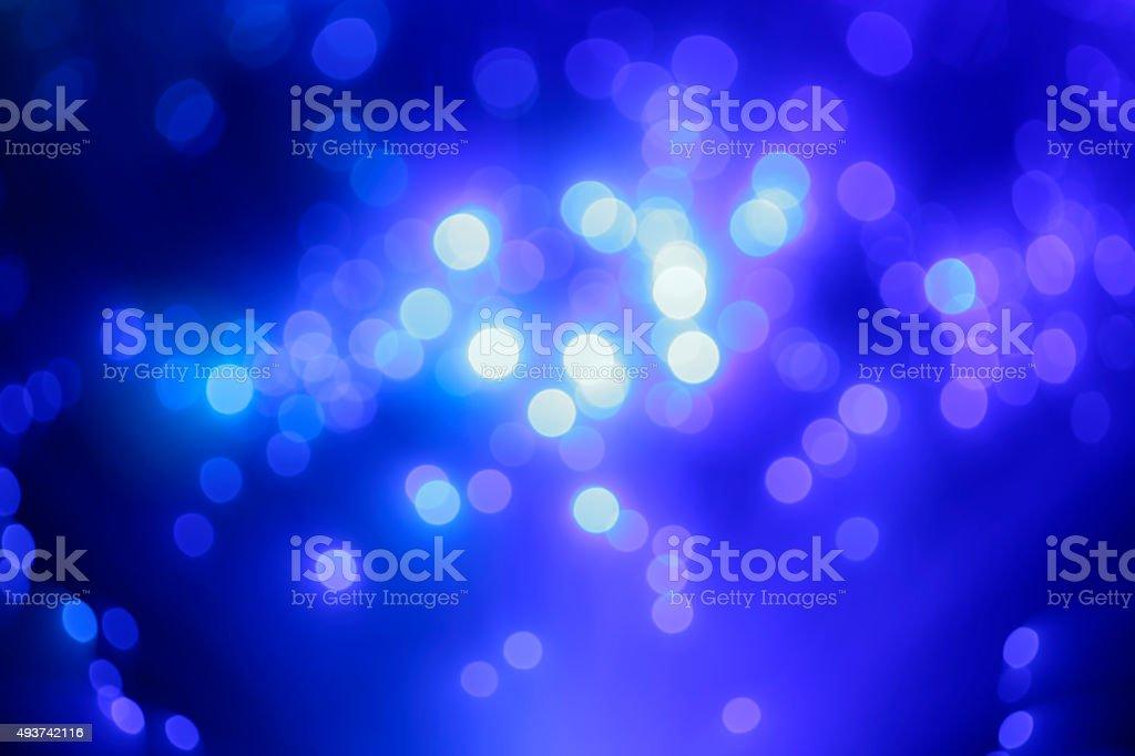 Defocused lights background (blue) stock photo