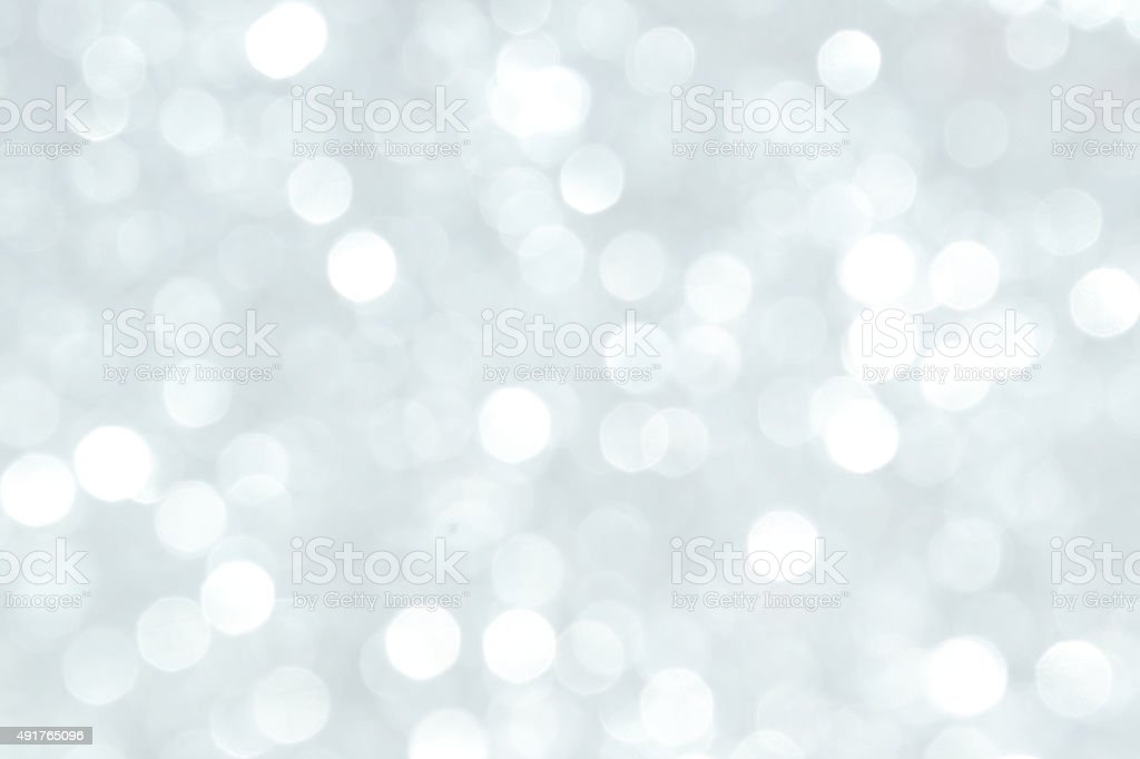 Defocused Lights Background Silver stock photo