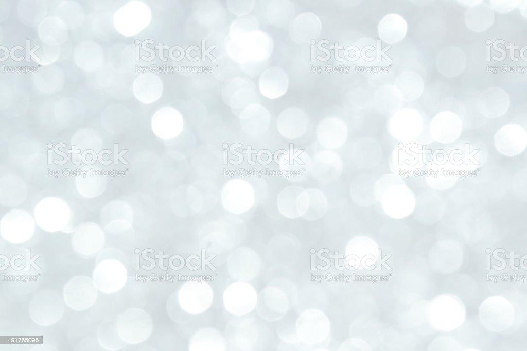 Defocused Lights Background Silver stock photo