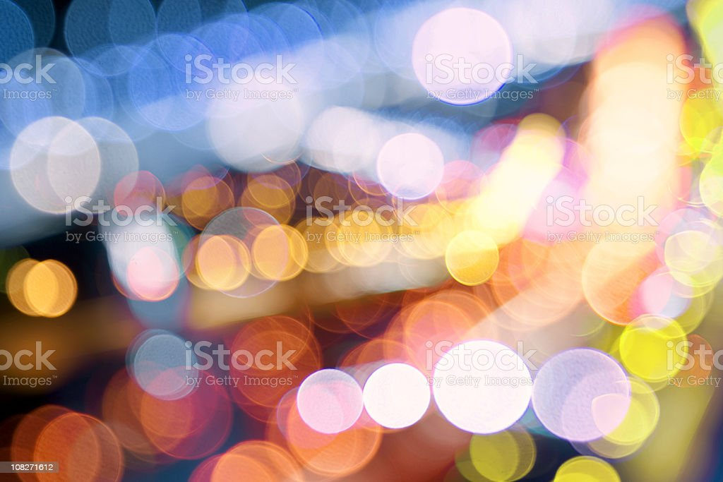 Defocused lights different color royalty-free stock photo