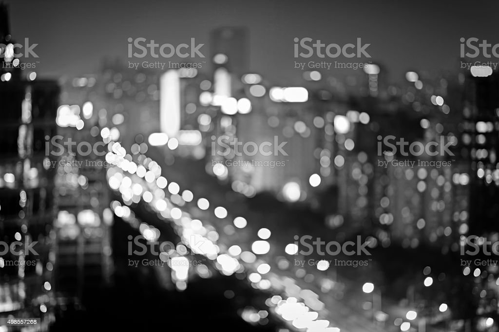 Defocused Lights of the city Background stock photo