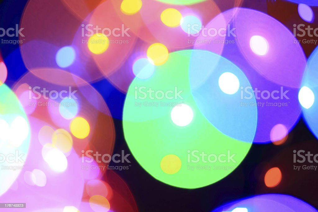 Defocused Lights Pattern royalty-free stock photo