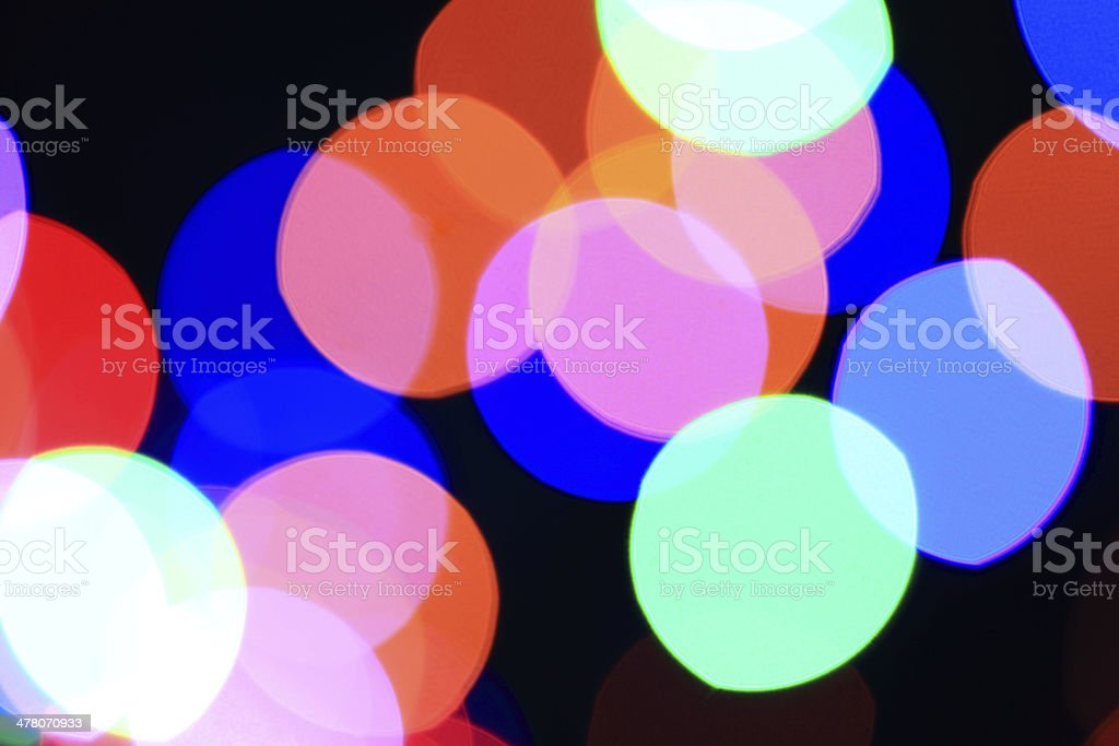 Defocused Lights Pattern royalty-free stock photo