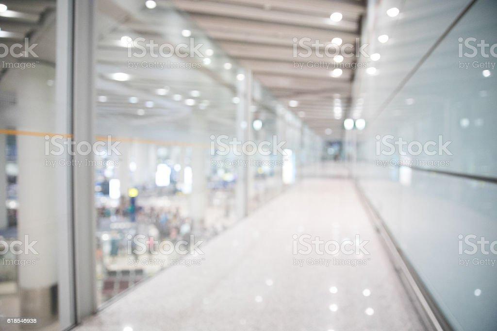 defocused lobby stock photo