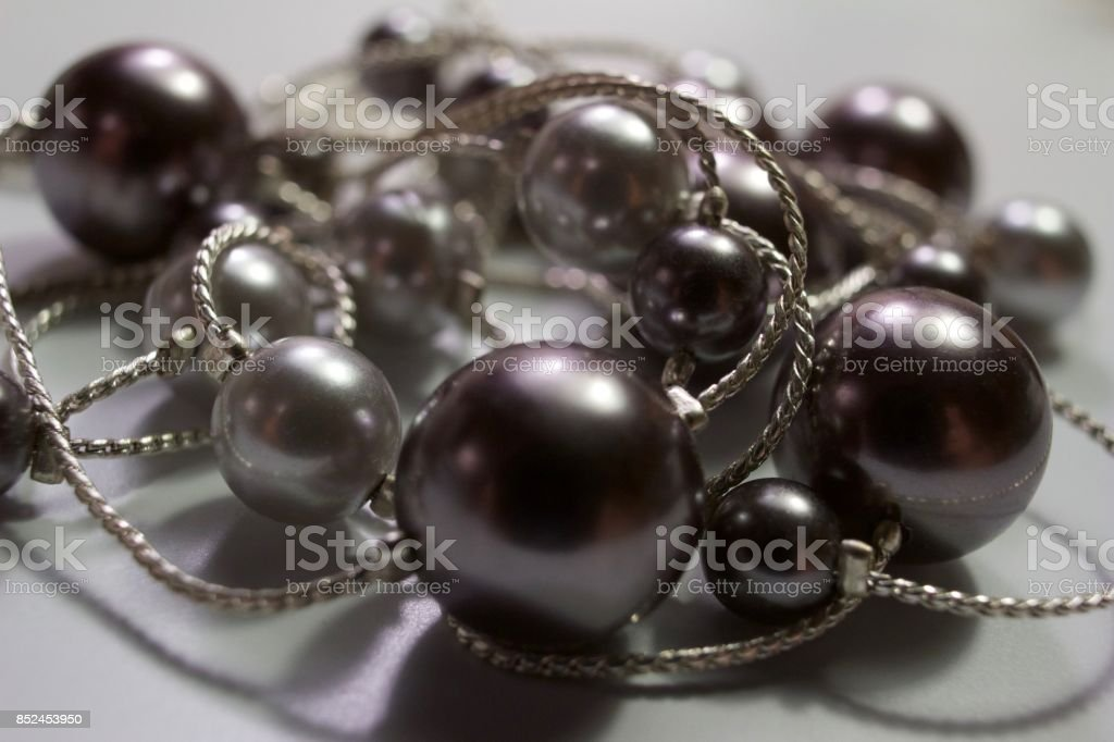 Defocused Modern Bead Necklace stock photo