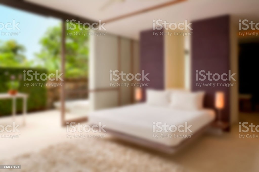 Defocused Modern Bedroom stock photo