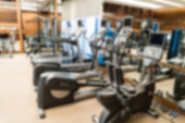 Defocused of health club