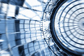 Defocused Office Building Abstract Background Motion Blur