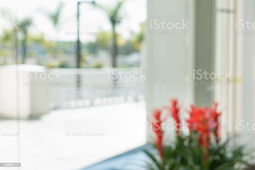 Defocused Office Building Courtyard Background stock photo