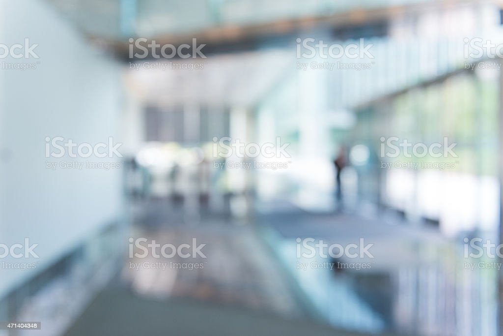 Defocused Office Building Lobby Background stock photo