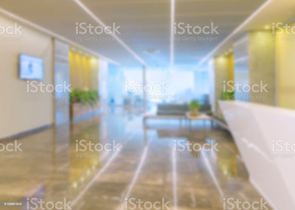 Defocused office reception as a background stock photo