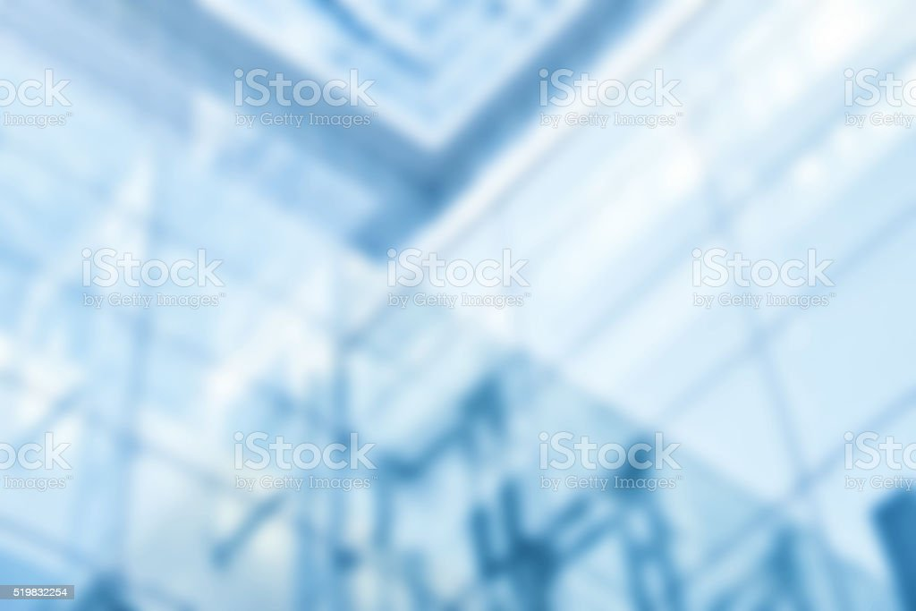 Defocused Office Space Blue stock photo