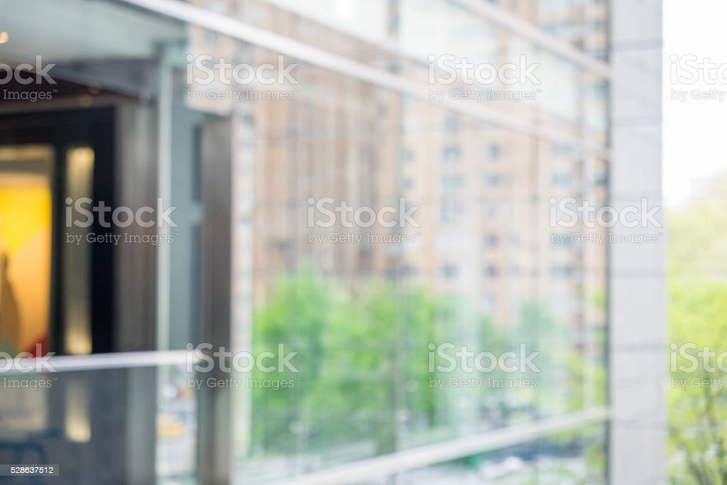 Defocused Public Space at Mall stock photo