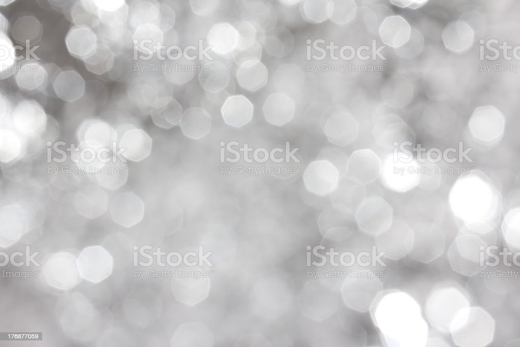Defocused silver abstract christmas background royalty-free stock photo