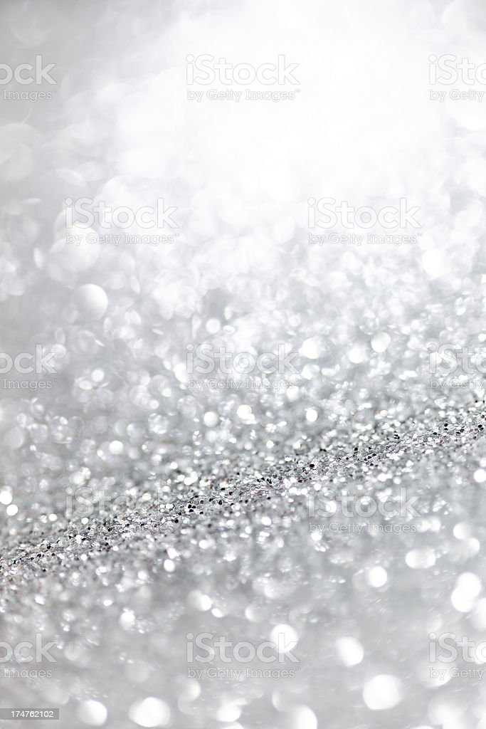 defocused silver glittering background royalty-free stock photo