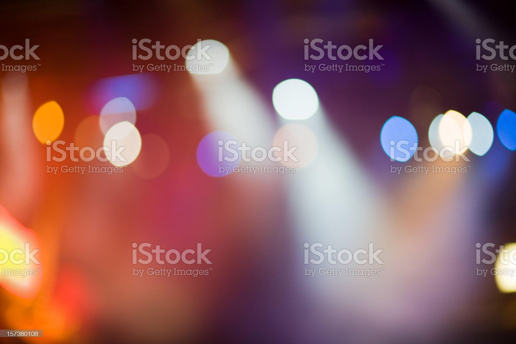 Defocused Stage Lights royalty-free stock photo