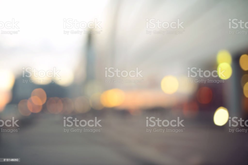 defocused store bokeh background stock photo