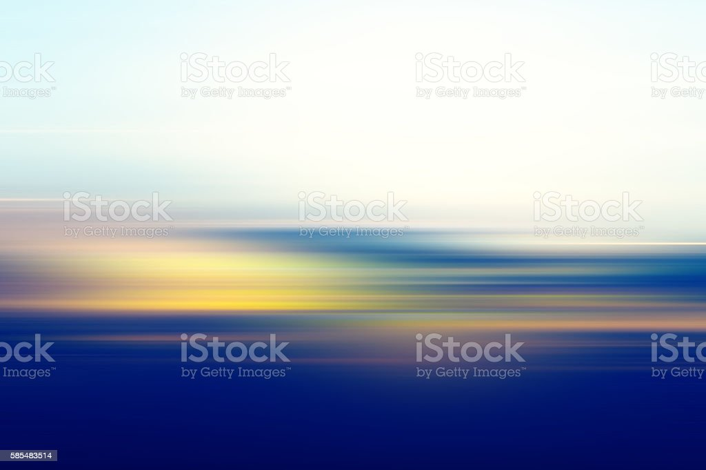 Defocused Sunset Sky Abstract Background stock photo