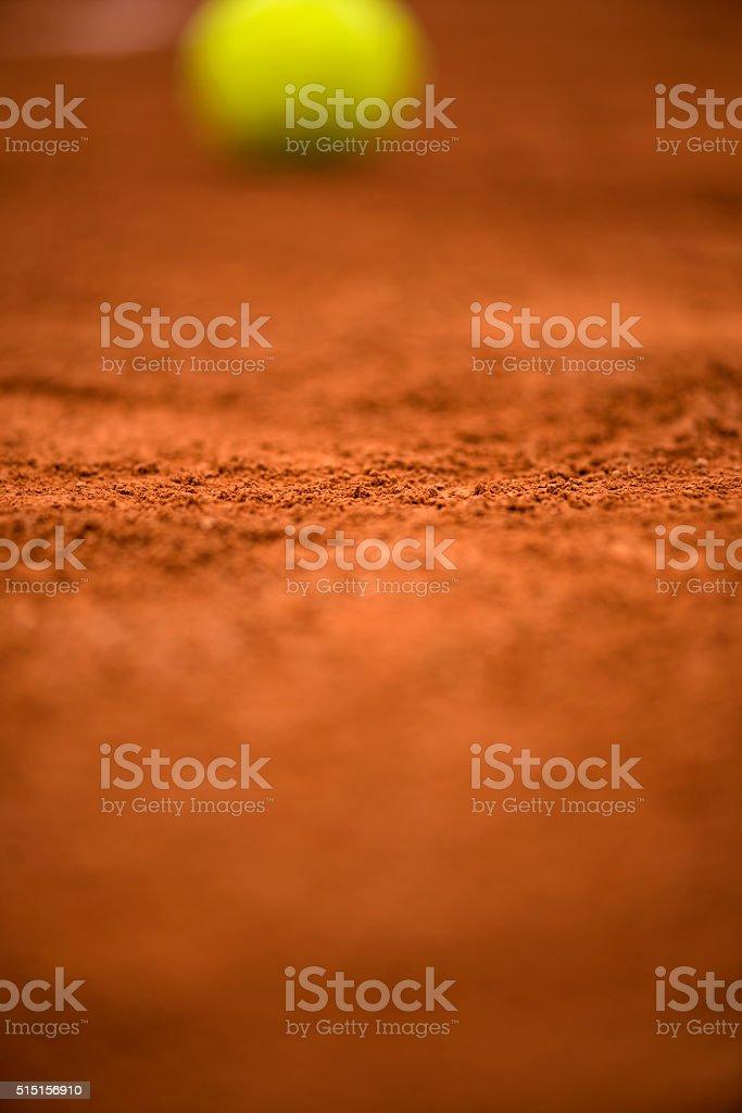 Defocused tennis ball stock photo