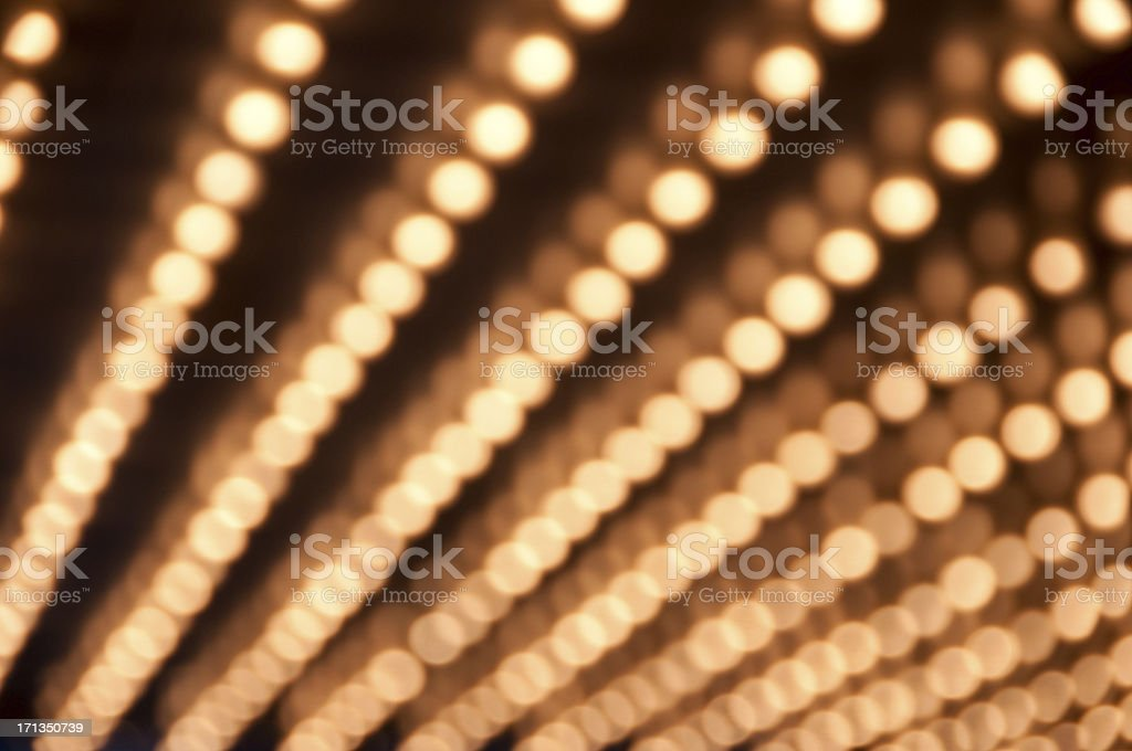 Defocused Theater Marquee lights stock photo