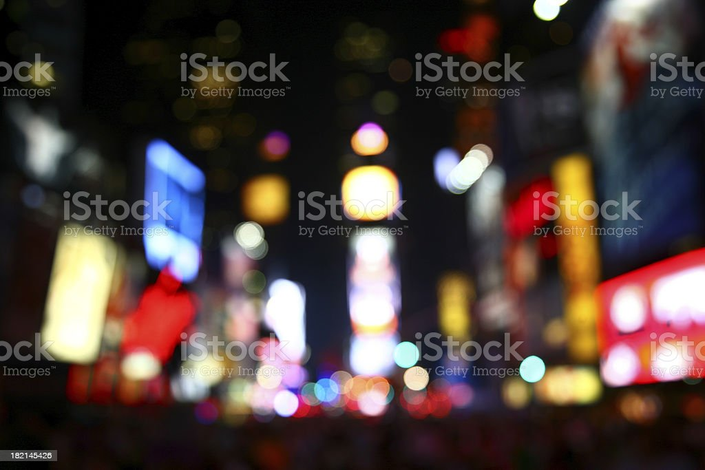 Defocused Times Square NYC royalty-free stock photo