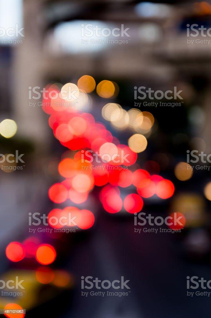 Defocused traffic lights stock photo