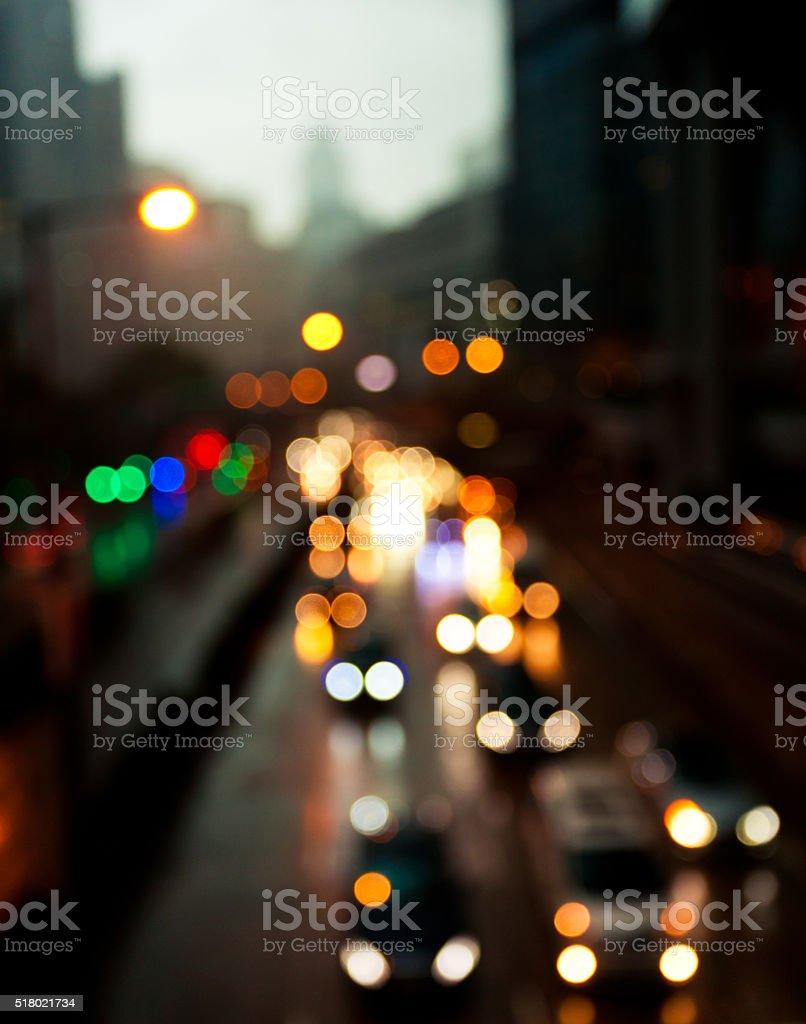 Defocused Traffic stock photo