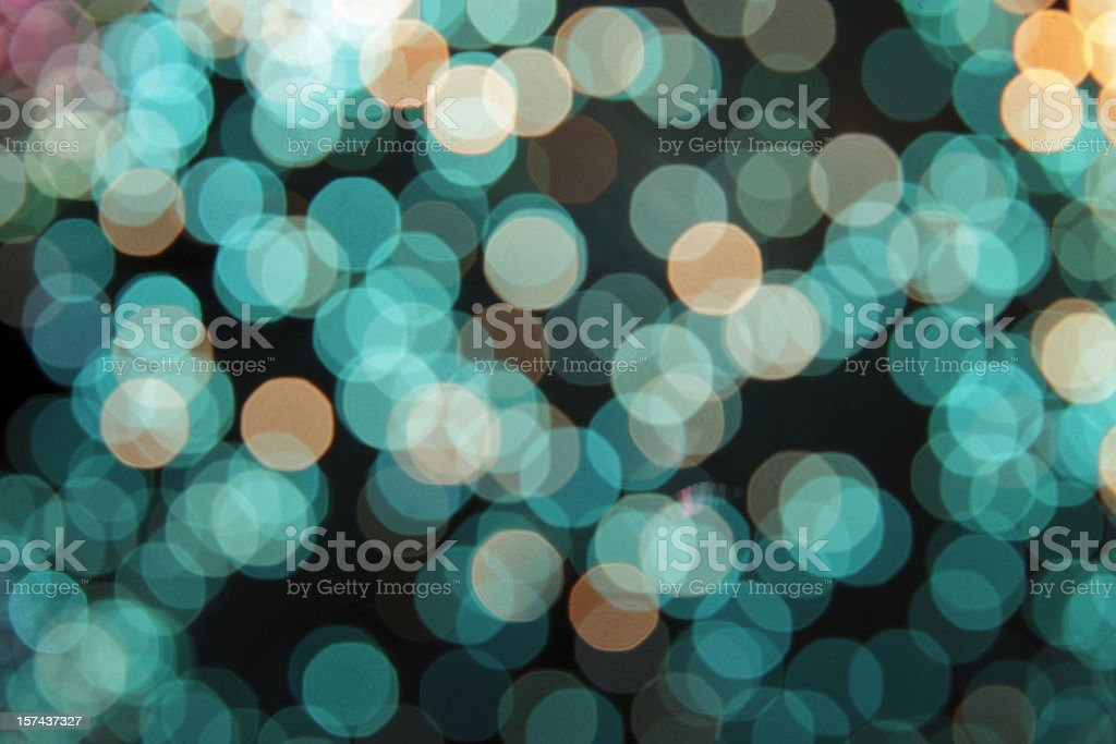 defocused turquoise light dots royalty-free stock photo