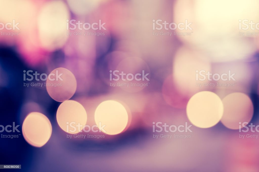 Defocused twilight scene in Times Square, New York City stock photo