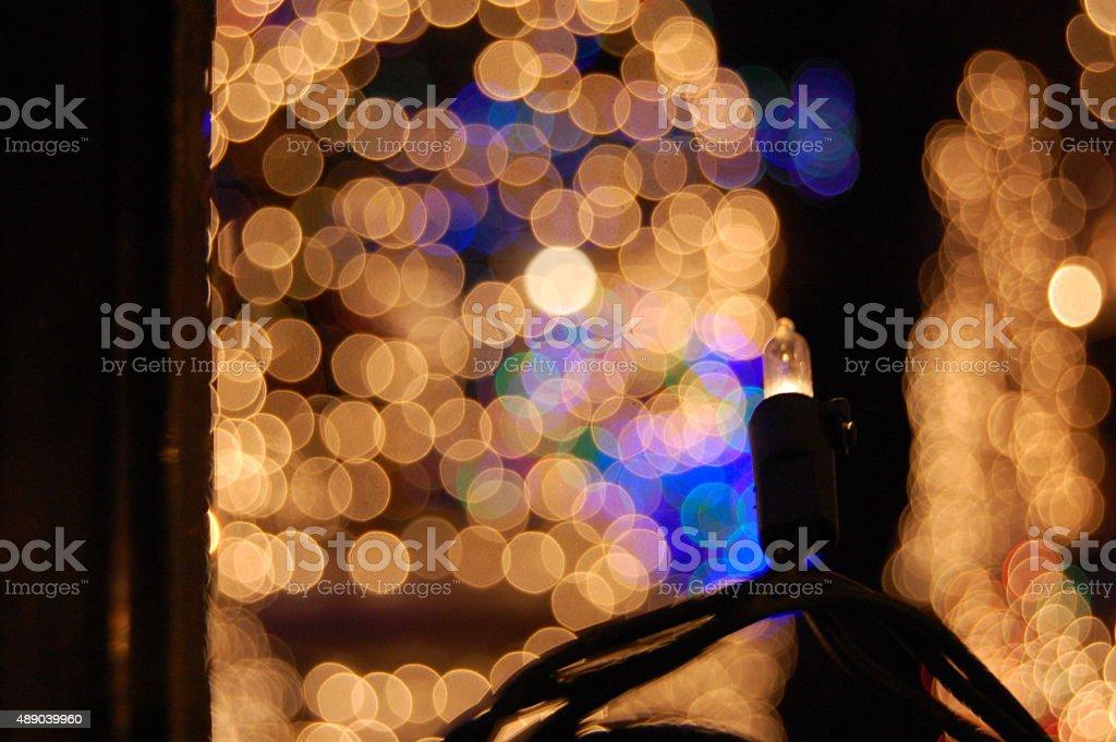 Defocused white lights stock photo