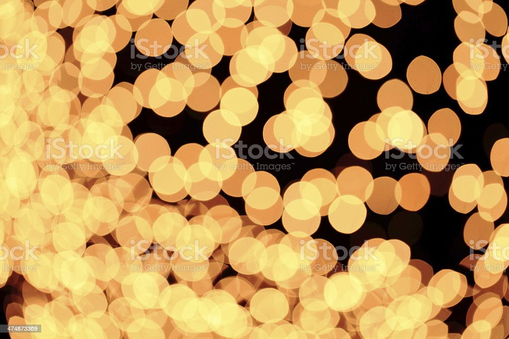 Defocused yellow lights royalty-free stock photo