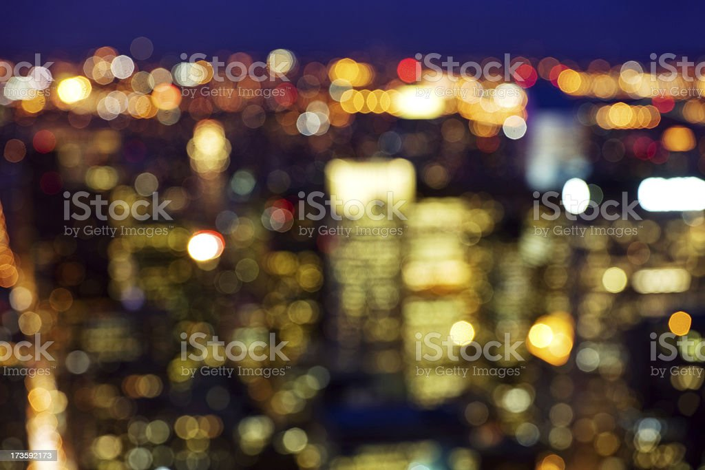 Defocussed City Lights royalty-free stock photo