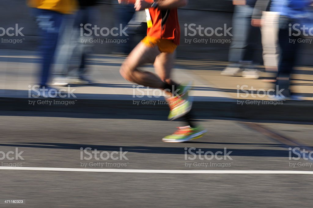 Defocussed male runner motion blur royalty-free stock photo