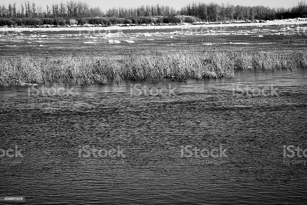 Defrost in may in Attawapiskat, North of Ontario stock photo