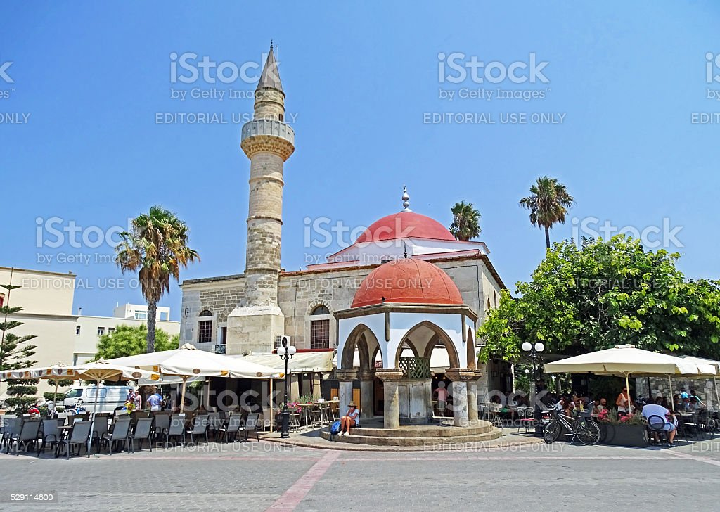 Defterdar Mosque in Kos (Greece) stock photo