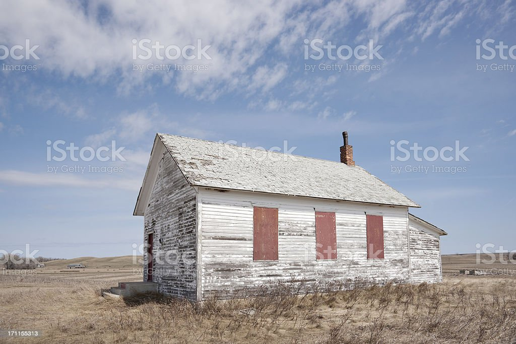 defunct one room country school royalty-free stock photo