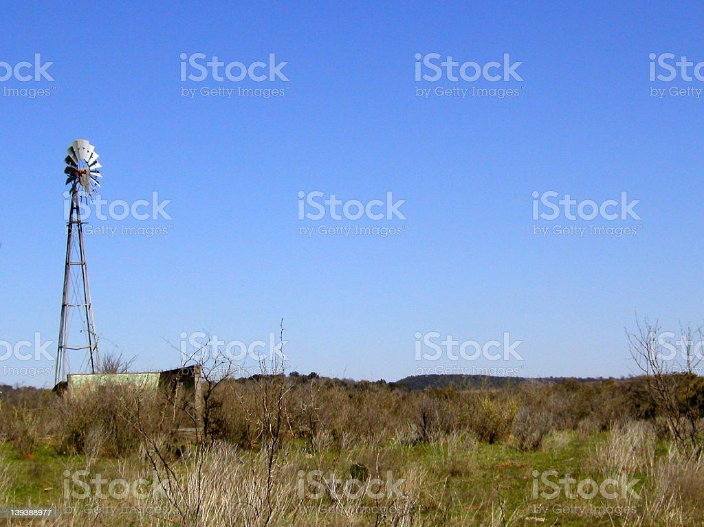 Defunct Windmill stock photo