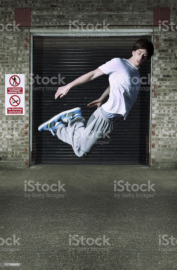 defying gravity royalty-free stock photo