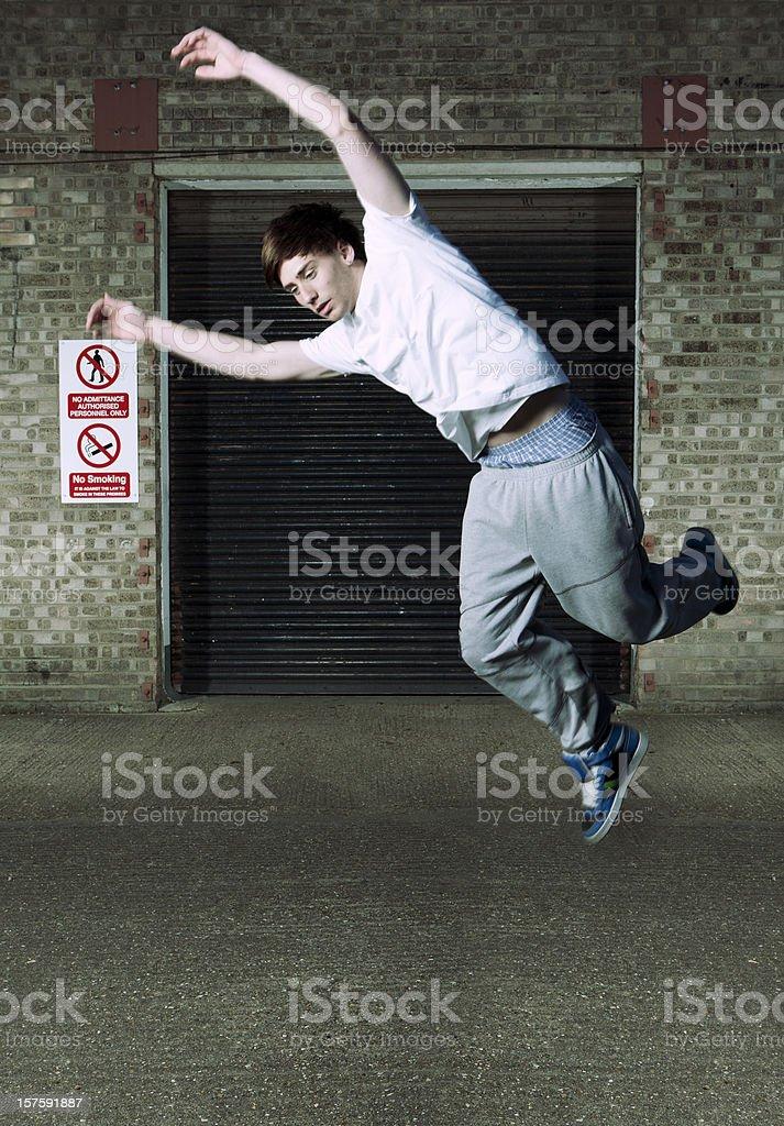 defying gravity #2 royalty-free stock photo