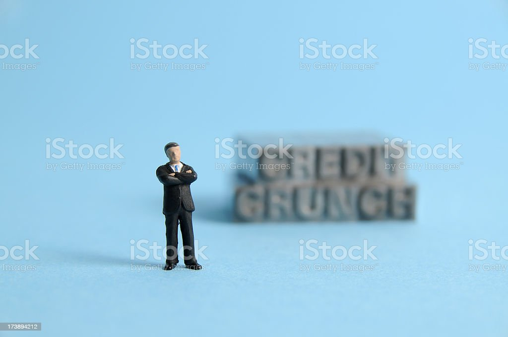 Defying the credit crunch royalty-free stock photo