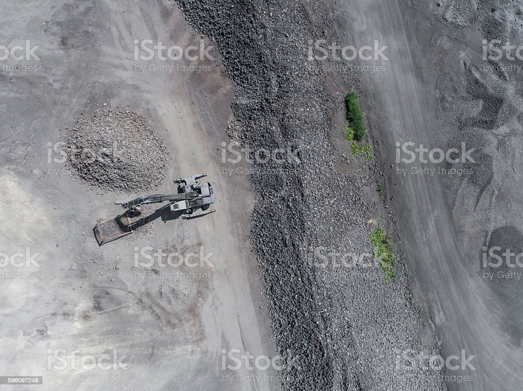 Degraded landscape in south of Poland. Destroyed land. stock photo