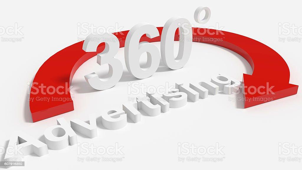 360 degree Advertising stock photo