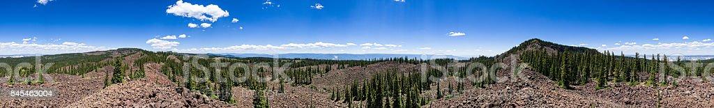 360 Degree Panorama from Battlement Mesa stock photo