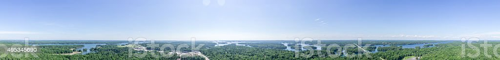 360 Degree Panorama of The Thousand Islands stock photo