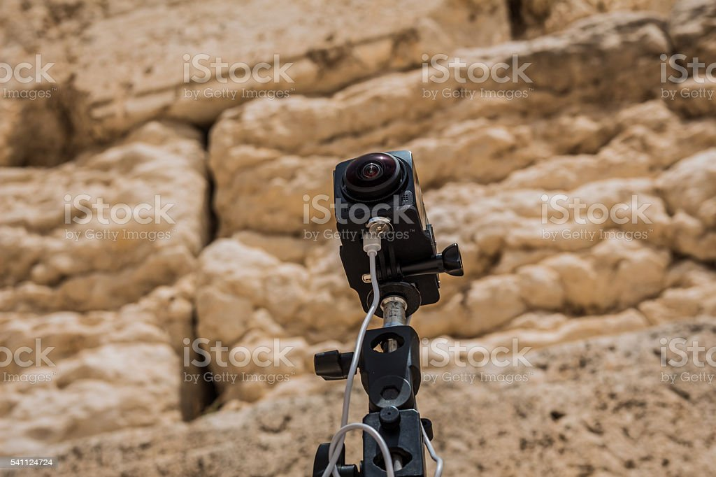 360 degrees video cameras system in filmed production stock photo